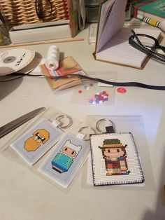 Dr who and adventure time keyrings Dr Who, Monopoly, Adventure Time, Gingham, Just For You, Bear, Handmade, Hand Made, Finn The Human