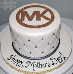 Mother's Day Cake with M K theme by K Noelle Cakes