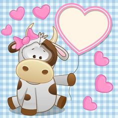 Cow Illustration Photos et images de stock Cow Pictures, Cute Cartoon Pictures, Cartoon Pics, Clipart Baby, Quilting Projects, Art Projects, Cow Tattoo, Blue Nose Friends, Arts And Crafts