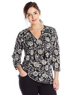 Lucky Brand Women's Plus-Size Black Floral Top, Black/Multi, 2X Lucky Brand http://www.amazon.com/dp/B00Q6TZCHA/ref=cm_sw_r_pi_dp_pGDCvb09Y4ZTW
