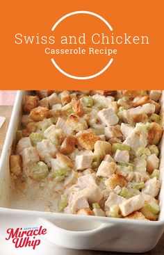 Looking for a chicken casserole that's creamy, Swiss cheesy and covered in crispy croutons? You're in luck! We've got one just in time for the cooler months ahead. Visit KraftRecipes.com today.