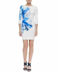 Orchid-Print Stretch-Jersey Dress at CUSP.