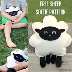 0 0 0 0 » Let's sew a sheep stuffed animal! This free sheep softie pattern is so much fun; fast and easy to sew. The simple shapes would make it a great sewing project for kids and the size…