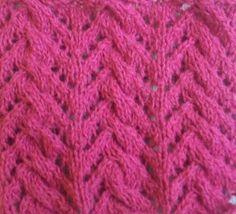Вязание на спицах узоры косы Коса с ажурной елочкой... фото #1