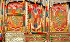 Tribal Truck Art - Pakistan Truck Art is a traditional trend in Pakistan which is been going on for years, Men decorate there trucks t. Truck Art Pakistan, Travel Forums, Art World, Lovers Art, Amazing Art, Printmaking, Illustrators, Trucks, Hand Painted
