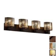 Master. Cascadia Lighting�4-Light Fusion Modular Dark Bronze Bathroom Vanity Light