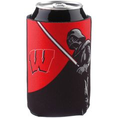 Wisconsin Badgers WinCraft Darth Vader Star Wars Can Cooler - $4.79