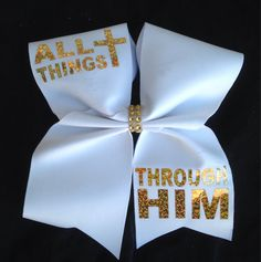 Hey, I found this really awesome Etsy listing at https://www.etsy.com/listing/229661399/all-things-through-him-cheer-bow