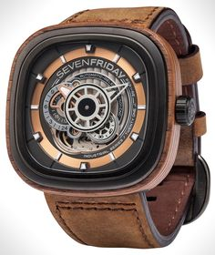 "SevenFriday P2B/03-W 'Woody' Limited Edition Watch -by Zen Love- on aBlogtoWatch.com ""As if SevenFriday weren't already a conversation-starter, something like this on your wrist is sure to get comments. Here, we have a new limited edition of the brand's avant-garde flagship model, the P-series, with a case surrounded in wood. And we must give SevenFriday credit that this is not just another instance of a limited edition with mixed and matched colors – so don't get too distracted by the…"