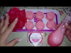 Looking for easy step by step directions on how to make fabric flowers? Felt Flower Designs teaches you how to make felt flowers using multiple methods. Making Fabric Flowers, Felt Flowers, Lavender Flowers, Flower Designs, Soap, Perfume, Silicone Molds, Simple, Youtube