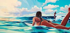 Thomas Campbell: Seeing Fatima's Eyes: Surf, Life, Stuff, Morocco, North Africa Surf Drawing, Surfing Pictures, Surfboard Art, Illustration Art, Illustrations, Ocean Art, Ocean Waves, Surf Art, Surfs