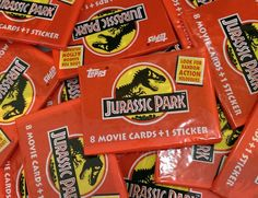 1x Jurassic Park Official Movie Trading Cards by TheAngryToaster