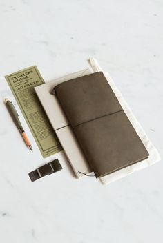 The new limited edition Traveler's Notebook in Olive!