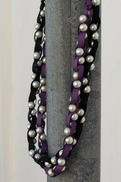 diy Ribbon Pearl Necklace