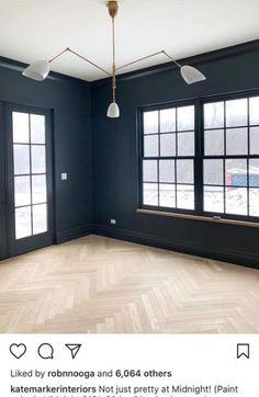 -Super dark herringbone wood floors wall colors ideas Super dark herringbone wood floors wall colors ideas See it White Wood Floors, Wood Tile Floors, Painted Floors, Laminate Flooring, Wood Floor Colors, Wall Colors, Living Room Wood Floor, My Living Room, Family Room Colors