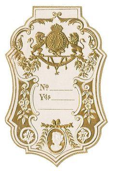 Antique French Perfume Label by Alys Geertsen Vintage Diy, Pub Vintage, Images Vintage, Vintage Tags, Vintage Labels, Vintage Ephemera, Vintage Prints, Vintage Designs, Vintage Clocks