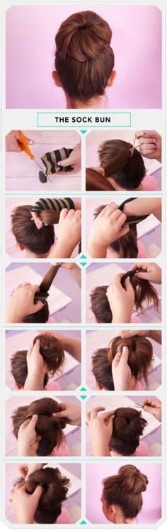 How to Rock a Sock Bun
