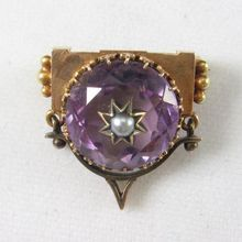 Charming Victorian Gold and Amethyst Brooch for sale $225