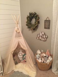 Hadley's Serene Shiplap Nursery - Project Nursery We see you, shiplap wall! Nursery Room, Kids Bedroom, Baby Room, Nursery Decor, Baby Girl Room Themes, Boho Nursery, Bedroom Ideas, Baby Nursery Ideas For Girl, Kids Rooms Decor