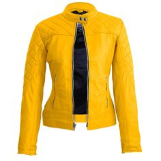 Buy Hollywood Movie Male Celebrity Real Leather Coat, Costume and Jackets at affordable price in USA/UK and Canada at one stop shop Celebrities Outfits. Leather Skin, Leather Blazer, Yellow Jacket Outfit, Yellow Quilts, Yellow Leather, Faux Leather Jackets, Jackets For Women, Quilted Leather, Clothes
