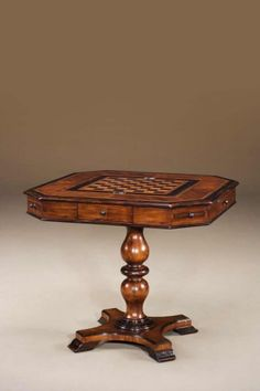 Buy Simple Elegance decor for the House Design you love! Home portfolio of Theodore Alexander Side & End Tables ideas! Buy Furniture You Love! Chess Table, Dining Table, Antique Furniture, Cool Furniture, Furniture Ideas, Art Nouveau, Table Games, Game Tables, Home Interior Design