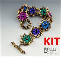 Full kit or refill Magic Carpet Bracelet red bead woven bracelet