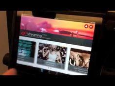 Qantas' in-flight wireless iPad system in action