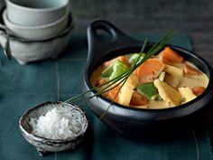 Gelbes Gemüse-Curry mit Jasminreis