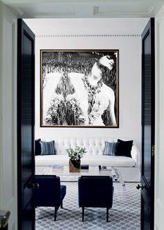 Black gloss & matte white
