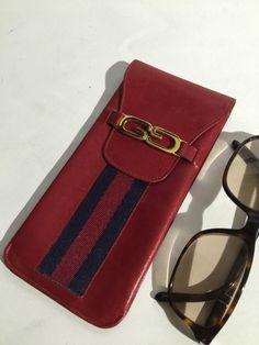 Gucci Leather Eyeglass Case & glasses