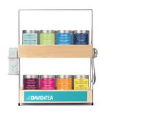 THIS IS SO ADORABLE!! But I would seriously need 10 of these to hold all my teas. :S  David's Tea Rack