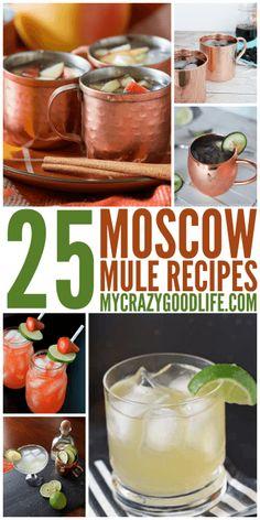 25 Moscow Mule Recipes | Delicious variations of the Mule like Mule Margaritas!  via @bludlum