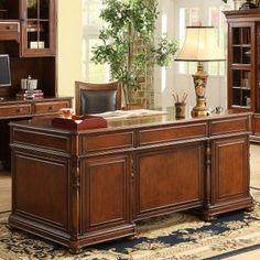 Riverside Bristol Court Executive Desk - 24530, Durable