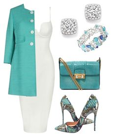 Untitled #12 by amra-fd on Polyvore featuring polyvore mode style Posh Girl Tagliatore Christian Louboutin Lanvin Bloomingdale's Avenue fashion clothing