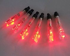 6 pcs Red Lighted Nocks night light Nocks Fletches for arrows