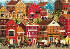 Amazon.com: Buffalo Games Lilac Point Glen by Charles Wysocki Jigsaw Puzzle from the Americana Collection (500 Piece): Toys & Games
