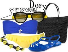 Dory swimsuit DisneyBound.