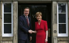 May 2015: Prime Minister David Cameron  met Nicola Sturgeon of the Scottish Nationalist Party at Bute House in Edinburgh.