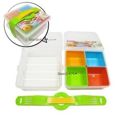 Made in Japan Microwavable Bento Box Lunch Box Set 2 tiers - All Things For Sale