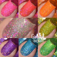 Sequins & Satin Pants - Full 7pc Collection + GWP 15mL each The Sequins & Satin Pants Collection is inspired by Disco and consists of 7 super sparkly jelly holos filled with holo microglitter, shimmer, and holo flakes. The collection consist of: Jive Talkin' is a chartruese jelly holo. Brick House is a watermelon jelly holo Hot Stuff is a bright hot pink jelly holo. The Hustle is a lime green jelly holo with strong gold/green shimmer. Le Freak is an azure blue jelly holo wi...