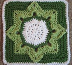 Ravelry: free Eight Pointed Flower pattern by Julie Yeager -- love the colors!