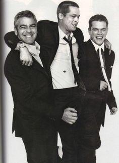 George Clooney, Brad Pitt, and Matt Damon.