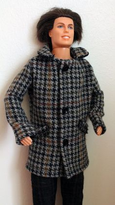 Wool coat  for Barbie Ken doll
