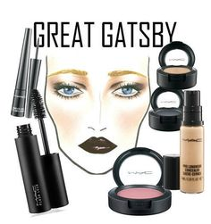 Draw eyebrows downwards and set with clear brow gel. Do a soft smokey eye using a dark eye shadow on the outer crease and a stark white shadow on the lid. Curl lashes and apply four coats of mascara. Perfect the 1920s look by dabbing on some black cherry lipstick.
