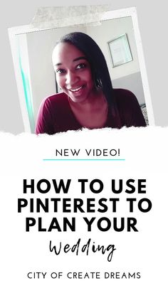 HOW TO USE PINTEREST TO PLAN YOUR WEDDING // By the end of this video, you are going to know exactly how to utilize your Pinterest account in the best way for wedding planning, the best ways to find what you are looking for when searching for pins, how to organize it so you can get quick access to what you need in vendor meetings and also how to create a Pinterest board. Watch this video to find out! Wedding Planning On A Budget, Plan Your Wedding, Party Planning, The Plan, How To Plan, Youtube Wedding, Wedding Videos, Pinterest Account, Pinterest Board