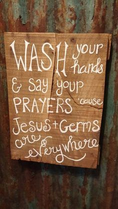 Jesus & Germs Pallet Sign by TheCountryShed on Etsy