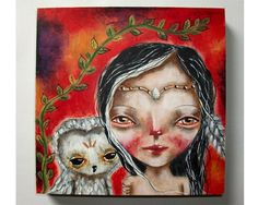 Guardian of the owls - An original painting by Micki Wilde