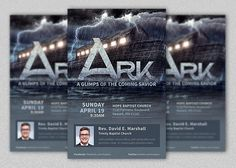 """Ark Church Flyer Template is for church conventions, seminars or sermons. Great for """"A glimps of the coming savior"""", """"Noah and The Ark"""" etc focus title. Salvation, missions, scriptural models and expectancy sermons will go well with this themed flyer. All layers in the Photoshop files are arranged,"""