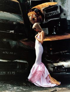 'Reinvented for Modern Times, The Ballgown Rolls into High Gear', Kirsty Hume by Patrick Demarchelier, Harper's Bazaar November 1994.