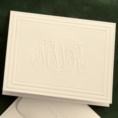 Classic Frame Monogram Foldover Note Cards....great website for custom monogrammed stationery!!!